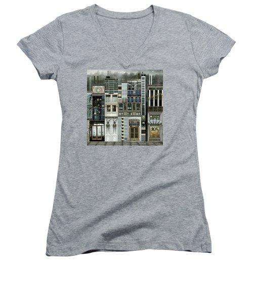 Chicago Reconstruction 1 Women's V-Neck T-Shirt (Junior Cut)