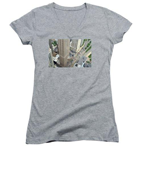 Chicago Streets Women's V-Neck T-Shirt