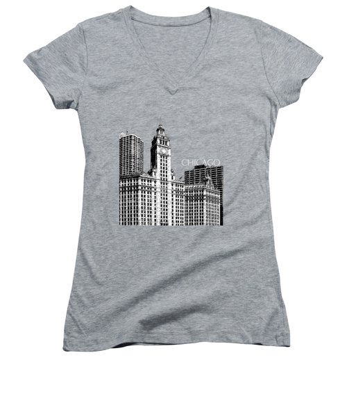 Chicago Wrigley Building - Salmon Women's V-Neck (Athletic Fit)