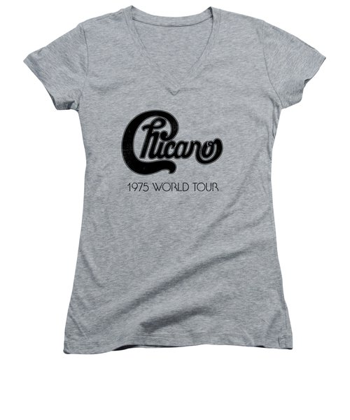 Chicano Women's V-Neck T-Shirt (Junior Cut) by Mike Lopez