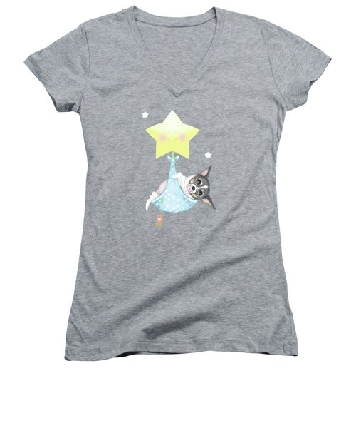 Chihuahua Cookie Baby Women's V-Neck