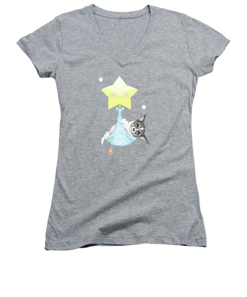 Chihuahua Cookie Baby Women's V-Neck T-Shirt