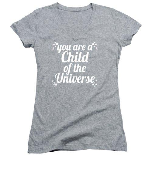 Child Of The Universe Desiderata - Blue Women's V-Neck T-Shirt