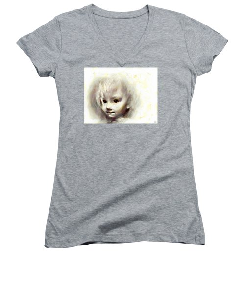 Child Portrait Women's V-Neck (Athletic Fit)
