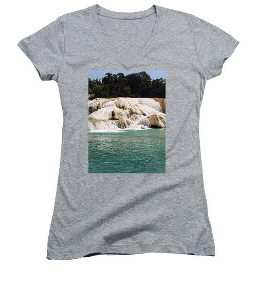 Chilon Waterfall. Women's V-Neck T-Shirt