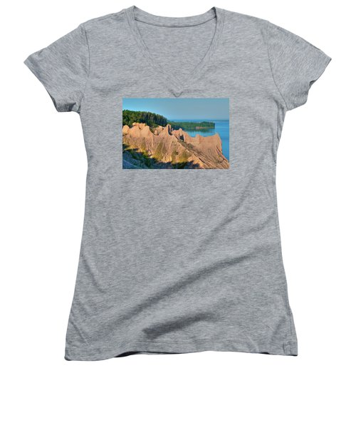 Chimney Bluffs 1750 Women's V-Neck (Athletic Fit)
