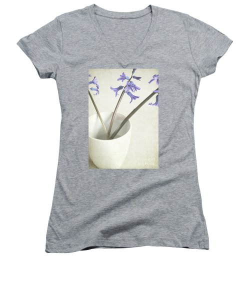 Women's V-Neck T-Shirt (Junior Cut) featuring the photograph China Cup by Lyn Randle