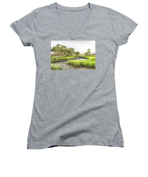Chisolm Island - Low Tide Women's V-Neck (Athletic Fit)