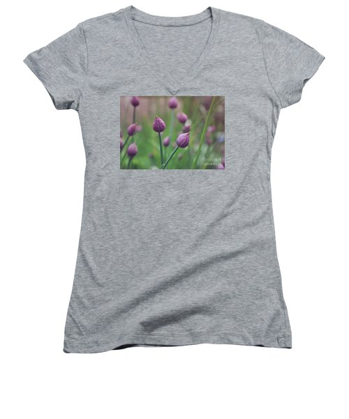 Chives Women's V-Neck T-Shirt