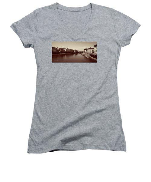 Chocolate Florence Women's V-Neck T-Shirt (Junior Cut) by Joseph Westrupp