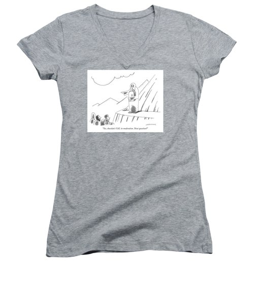 Chocolate Is Ok In Moderation Women's V-Neck