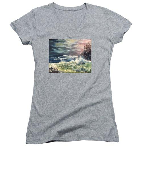 Choppy Seas 1 Women's V-Neck T-Shirt