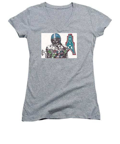 Chris Johnson  Women's V-Neck T-Shirt