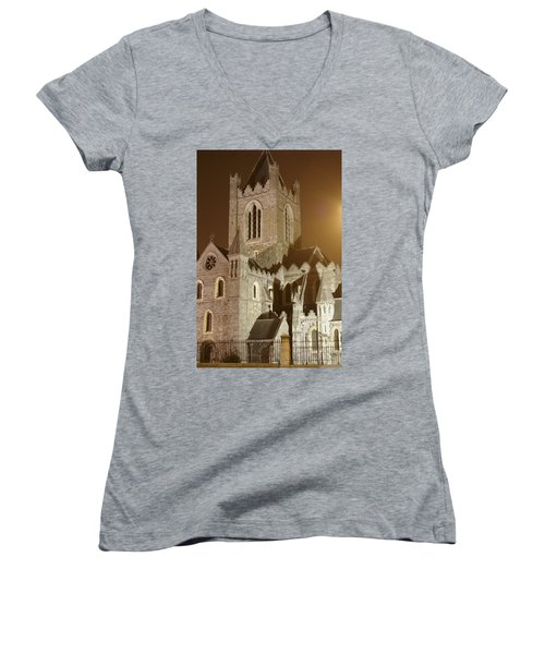 Christ Church Dublin Ireland Women's V-Neck T-Shirt
