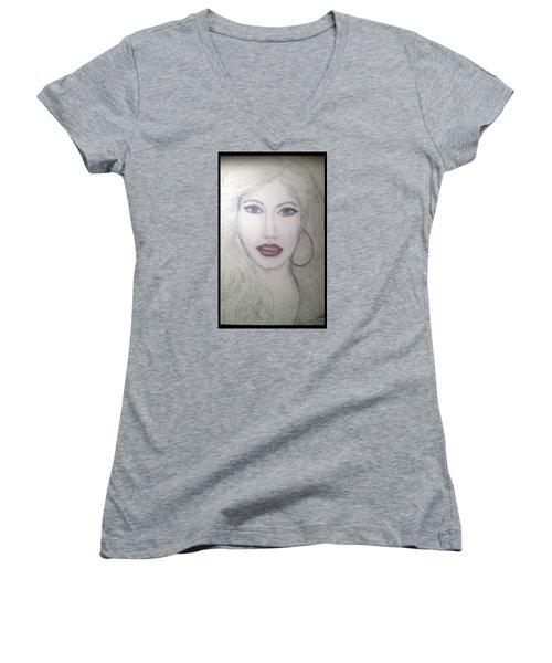 Christina Aguilera Women's V-Neck T-Shirt