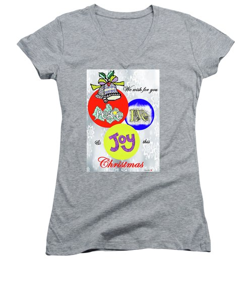 Christmas 2 Women's V-Neck (Athletic Fit)