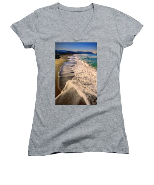 Chromatic Aberration At The Beach Women's V-Neck (Athletic Fit)