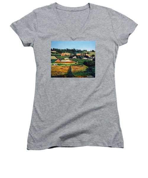 Chubby's Farm Women's V-Neck T-Shirt