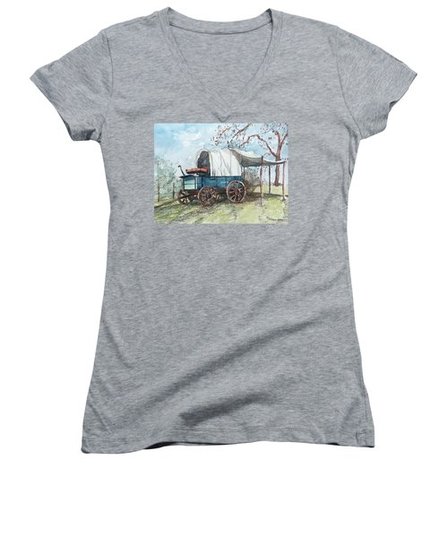 Chuck Wagon Women's V-Neck (Athletic Fit)