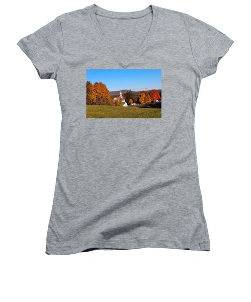Church And Mountain Women's V-Neck