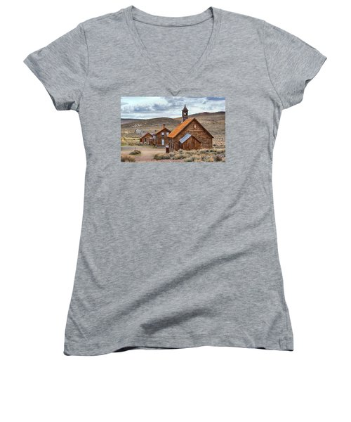 Church At Bodie Ghost Town Women's V-Neck