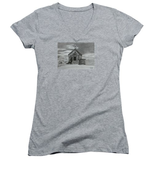 Church  At Bodie  Women's V-Neck T-Shirt