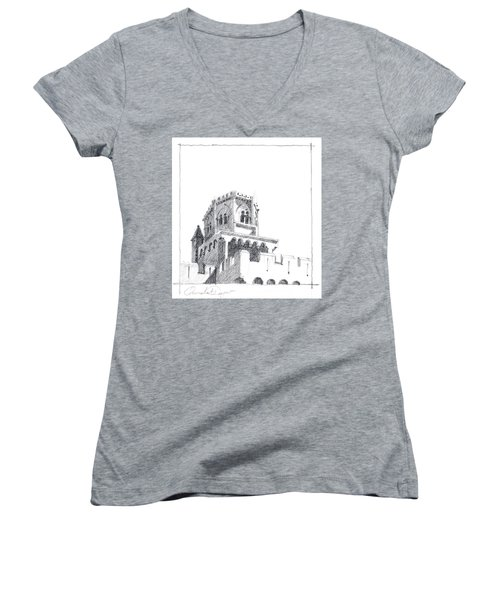 Church At Chamalieres Women's V-Neck