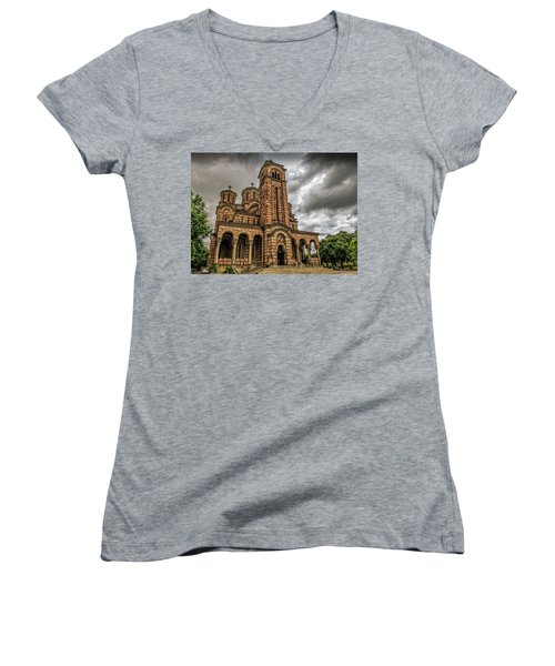 Church Of Saint Mark Women's V-Neck (Athletic Fit)