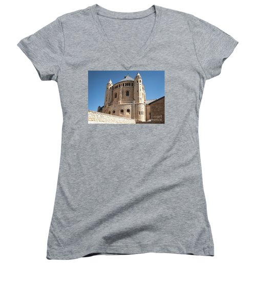 Women's V-Neck featuring the photograph Church Of The Dormition by Mae Wertz