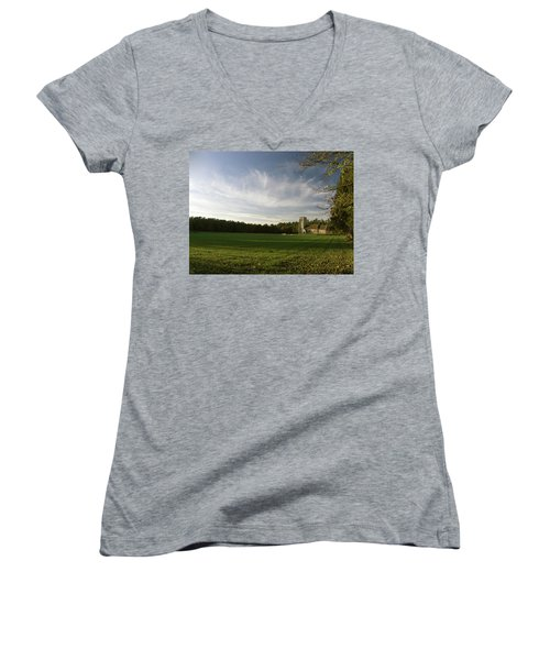 Church On The Edge Of A Forest Women's V-Neck