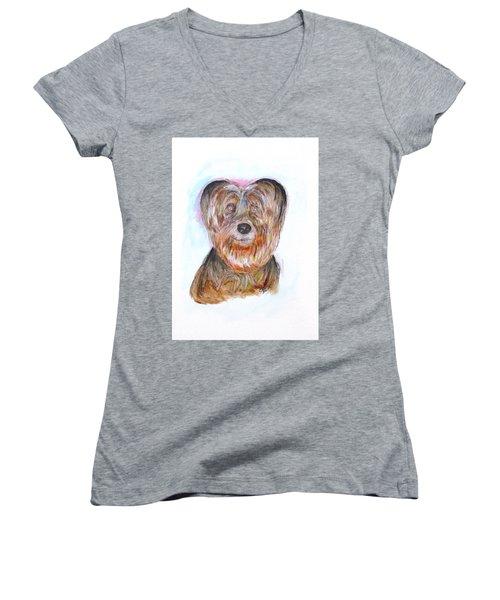 Ciao I'm Viki Women's V-Neck T-Shirt (Junior Cut) by Clyde J Kell