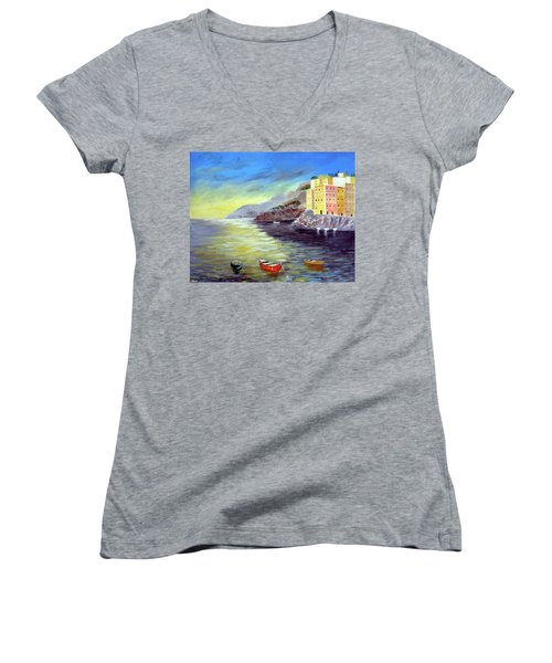 Cinque Terre Dreams Women's V-Neck