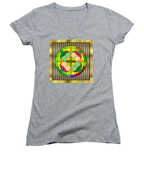 Circle On Bars 2 Women's V-Neck (Athletic Fit)