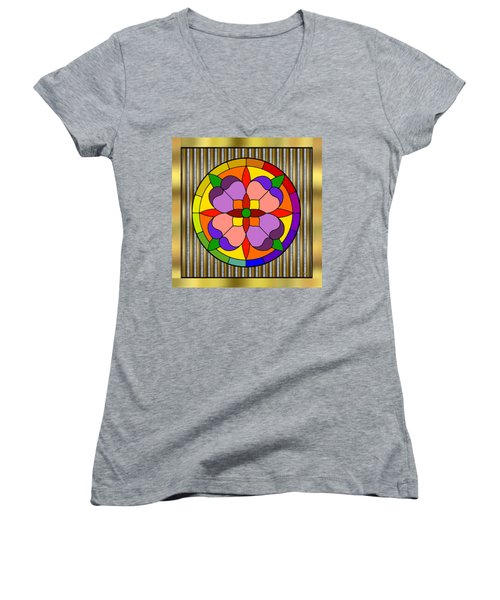 Circle On Bars Women's V-Neck (Athletic Fit)