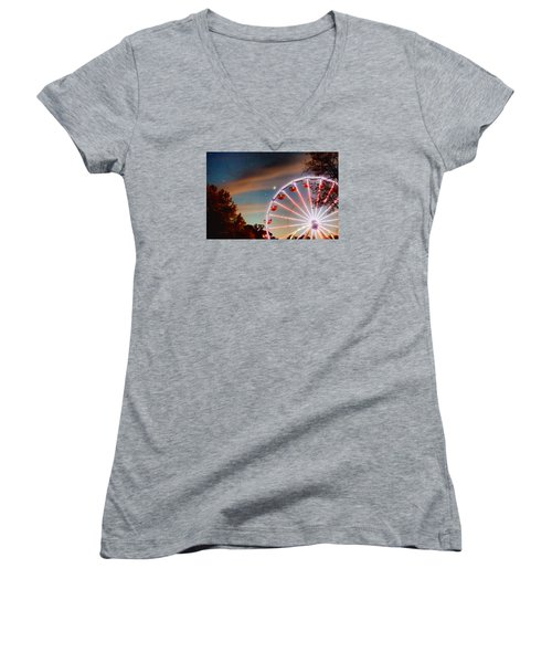 Circus Dusk Women's V-Neck (Athletic Fit)