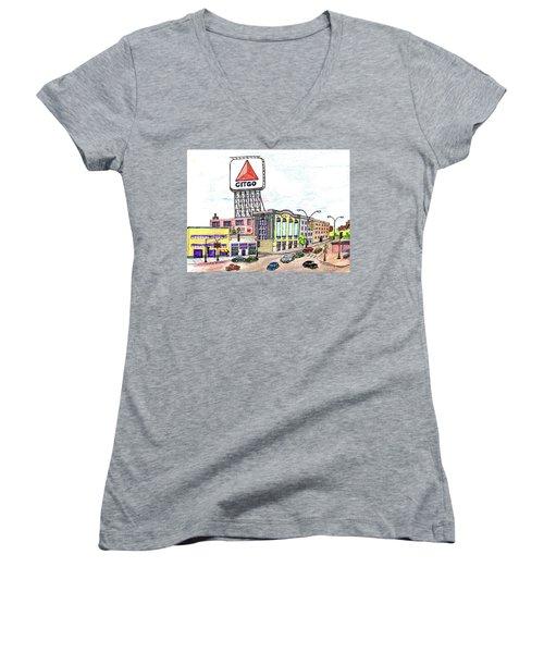 Citco Boston Women's V-Neck T-Shirt (Junior Cut) by Paul Meinerth