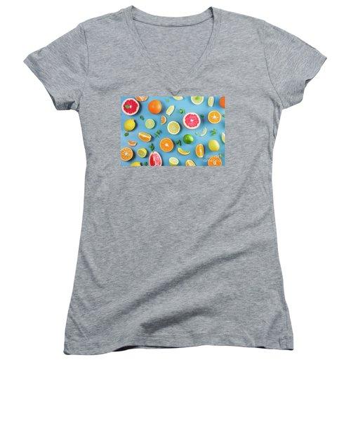 Citrus Summer Women's V-Neck T-Shirt