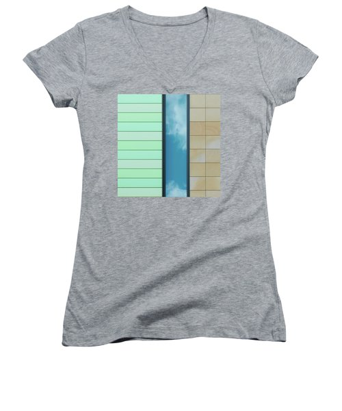 City Abstract Women's V-Neck