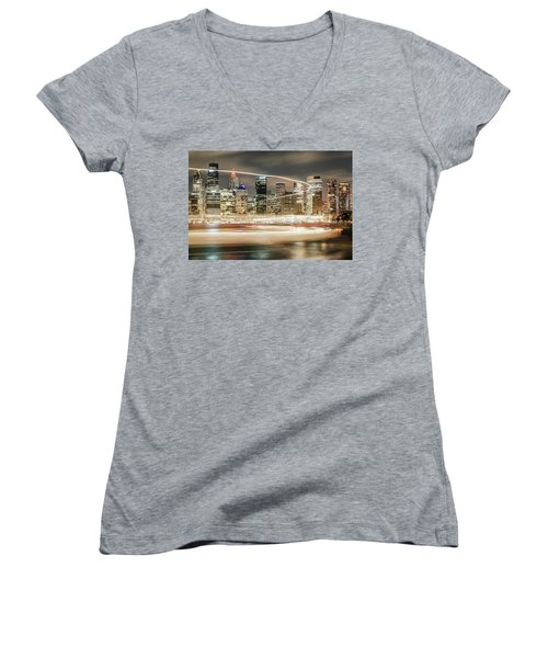 City Blur Women's V-Neck (Athletic Fit)