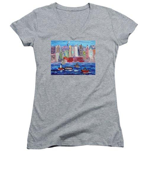 City City City Women's V-Neck T-Shirt