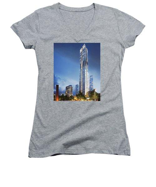 City Heights Women's V-Neck T-Shirt