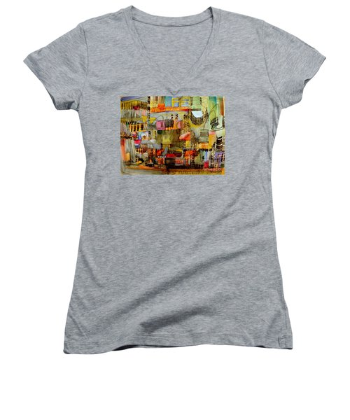 City Life  Women's V-Neck (Athletic Fit)