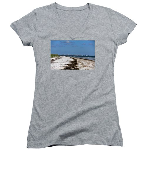 City Of Clearwater Skyline Women's V-Neck