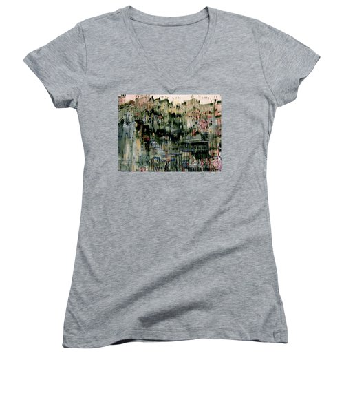 City On A Hill Women's V-Neck (Athletic Fit)