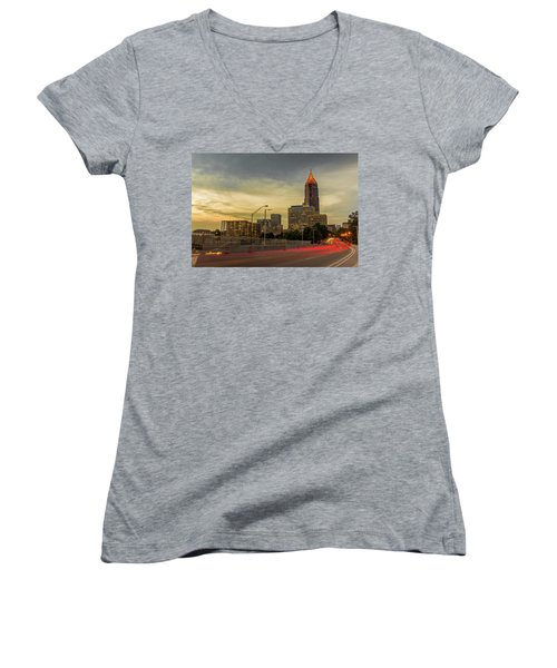 City Sunset Women's V-Neck