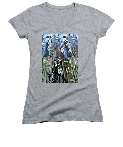 City Towers Women's V-Neck (Athletic Fit)