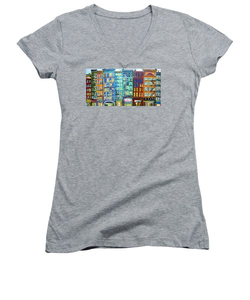 City Windows Women's V-Neck T-Shirt