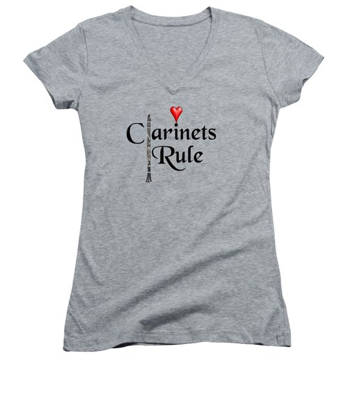 Clarinets Rule Women's V-Neck (Athletic Fit)