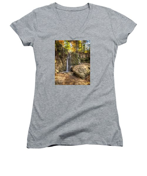Clark Creek Nature Area Waterfall No. 1 Women's V-Neck