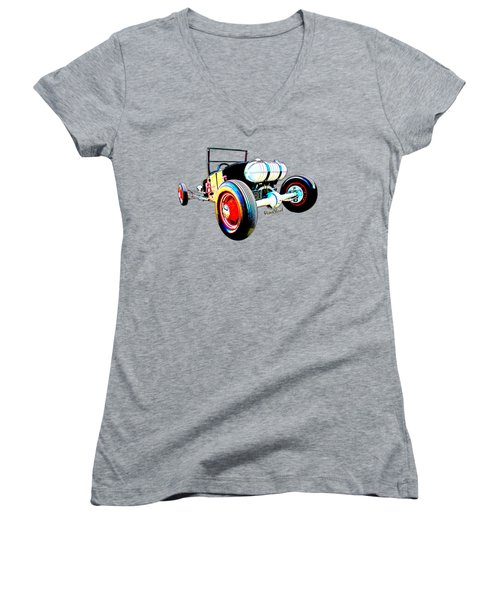 Classic Hot Rod T In A Stormy Sunset Women's V-Neck (Athletic Fit)